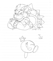 Bowser and Starlow by Ryuu-Atrineas