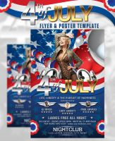 4th of July Flyer And Poster Template by deiby