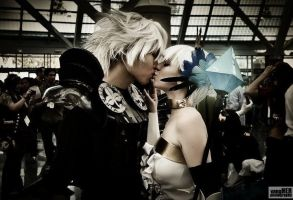 Kiss of Oswald and Gwendolyn by gacktstream