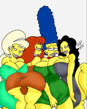 Lurleen, Mindy, Marge and Julia by maxtlat