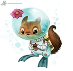 Daily Painting 897# Sandy Cheeks by Cryptid-Creations