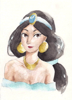 Disney Princess Series - Jasmine by maybelletea