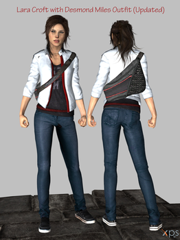 Lara Croft with Desmond Miles look for XPS(W.I.P2) by RockinRoadstar