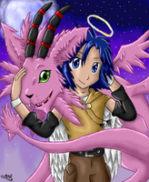 Angel Kouichi and Magnadramon by pdutogepi
