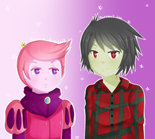 Adventure Time fanart: Marshall Lee and Gumball by chocomax