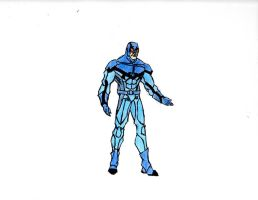 Blue Beetle Redesign (Colored) by The-Middnite-Hawk
