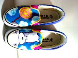 Bubu bear custom painted shoes by Oookie