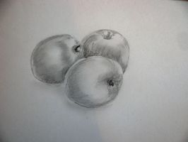 AN APPLE A DAY IS GOOD HOW ABOUT 3 by chrisravensar