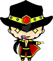 Chibi Twisted Fate. by yue-3