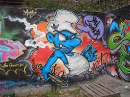 Dirty smurf.... by Mone78