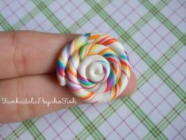 Lollipop Pin 2 - Rainbow by FunkadelicPsychoFish