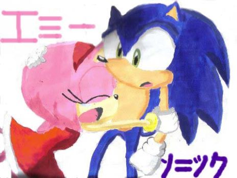 Sonic and Amy Painting by sonamy-fans