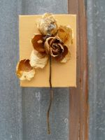 dead flowers stiched to canvas by nek