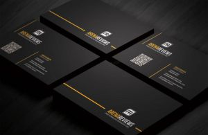 Line Corporate Business Card Template by ArenaReviews