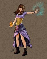 Witchy Woman By Miserie (COLORS) by carol-colors