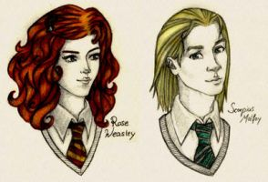 Rose Weasley and Scorpius Malfoy by RoseLuna