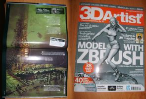 I'm in 3D Artist magazine by arsdraw