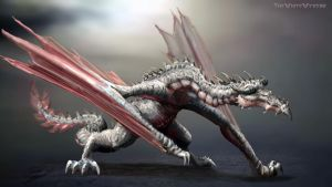 The white wyvern by LordHannu