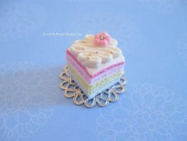 Miniature Pastel Rainbow Cake by ilovelittlethings
