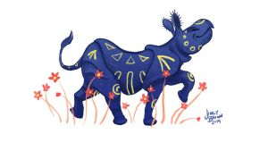 Indian Rhino by Ditchmaster