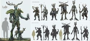 Leshy Concept Design Sheet by Anday