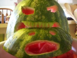 Cannibalistic watermelon. by DaynaRyan