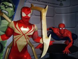 Iron Spiderman Costume by BatmanBeyondfan2009