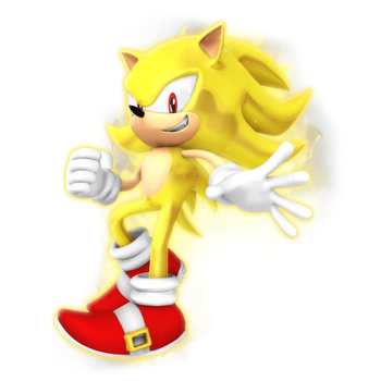 Dreamcast Super Sonic Render by Nibroc-Rock