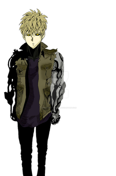 Genos (One Punch Man) by umbreoncopper2244