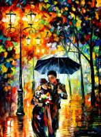 Warm Night by Leonid Afremov by Leonidafremov
