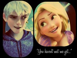 Jack frost and Rapunzel by retrochick80