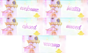 Site Status Banners Set 3 by radiantine