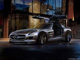 SLS AMG speculative rendering by jonsibal