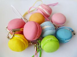 Mini Macaron Charms by summerRhapsody