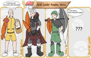 Guild Leaders Cosplay Meme. Pokedungeon by Lion-Oh-Day