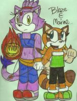 AT: Blaze and Marine by dragonpop1