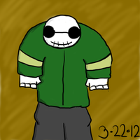 New Skeleton Oc (No Name) by ZOMBEHSRKEWL
