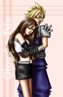 Cloud + Tifa by GawainesAngel
