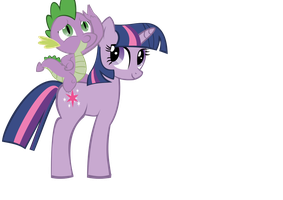 Twilight and Spike by SoupInsanity