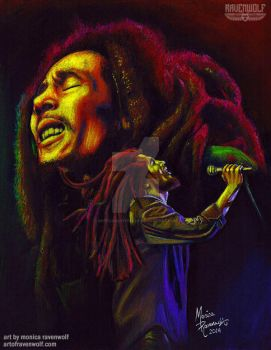 ONE LOVE - Bob Marley by The-Art-of-Ravenwolf