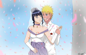 NaruHina wedding by narusasu2009