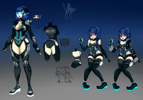 Space Girl Adoptable (Closed) by ButteryFingers