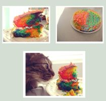 My Rainbow Cake by Autopsyh