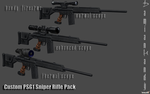 Custom PSG1 Sniper Rifle Pack by DamianHandy
