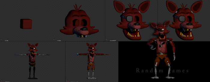 The making of foxy by RandomGames