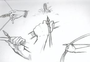 Hunter's hands -Study- by dragon-mystica