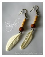 Eagle Feathers - FOR SALE by Kurokami-Kanzashi