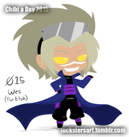 Chibi a Day 2015: 015: Wes by Luckster