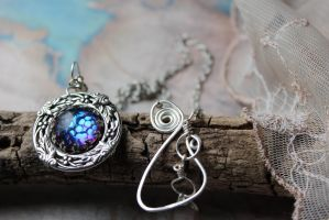 Dragon Eye and Teeth Necklace Medieval by artistiquejewelry