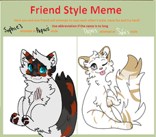 Sofa Friend Style Meme by paperfleece